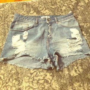 Zara High Waisted Denim Shorts 💙